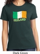 St Patrick's Day Distressed Ireland Flag Ladies Shirt