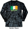 St Patrick's Day Distressed Ireland Flag Long Sleeve Tie Dye Shirt