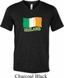 St Patrick's Day Distressed Ireland Flag Mens Tri Blend V-neck Shirt