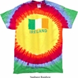 St Patrick's Day Distressed Ireland Flag Premium Tie Dye Shirt