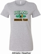 St Patrick's Day Ireland Drinking Team Ladies Longer Length Shirt