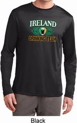 St Patrick's Day Ireland Drinking Team Mens Dry Wicking Long Sleeve