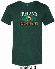 St Patrick's Day Ireland Drinking Team Mens Tri Blend Crewneck Shirt