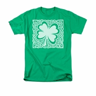 St. Patrick's Day Shirt Celtic Clover Adult Kelly Green Tee T-Shirt