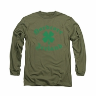 St. Patrick's Day Shirt Hardcore Ireland Long Sleeve Military Green Tee T-Shirt