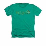 St. Patrick's Day Shirt Ireland Adult Heather Kelly Green Tee T-Shirt