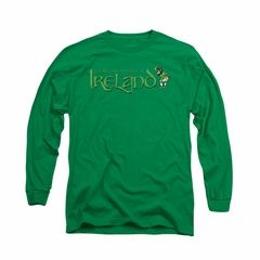 St. Patrick's Day Shirt Ireland Long Sleeve Kelly Green Tee T-Shirt
