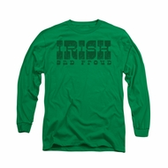 St. Patrick's Day Shirt Irish And Proud Long Sleeve Kelly Green Tee T-Shirt
