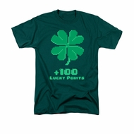 St. Patrick's Day Shirt Lucky Points Adult Hunter Green Tee T-Shirt