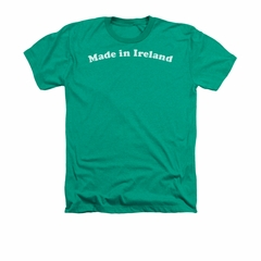 St. Patrick's Day Shirt Made In Ireland Adult Heather Green Tee T-Shirt