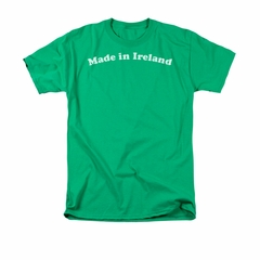 St. Patrick's Day Shirt Made In Ireland Adult Kelly Green Tee T-Shirt