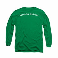 St. Patrick's Day Shirt Made In Ireland Long Sleeve Kelly Green Tee T-Shirt
