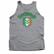 St. Patrick's Day Tank Top Ireland With Soccer Flag Grey Tanktop