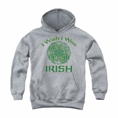 St. Patrick's Day Youth Hoodie Irish Wish Athletic Heather Kids Hoody
