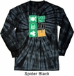 St Patricks Day Eat Drink Be Irish Long Sleeve Tie Dye Tee T-shirt