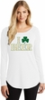 St Patricks Day I Love Beer Ladies Tri Long Sleeve