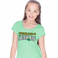 St Patricks Day Irish Kid Girls Fringe T-shirt