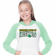 St Patricks Day Irish Kid Girls Long Sleeve Hoodie