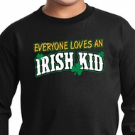St Patricks Day Irish Kid Youth Long Sleeve