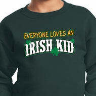 St Patricks Day Irish Kid Youth Sweatshirt