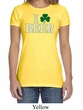 St Patricks Day Ladies Shirt I Love Beer Crewneck Tee T-Shirt
