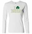 St Patricks Day Ladies Shirt I Love Beer Long Sleeve Tee T-Shirt