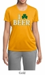 St Patricks Day Ladies Shirt I Love Beer Moisture Wicking Tee T-Shirt