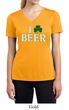 St Patricks Day Ladies Shirt I Love Beer Moisture Wicking V-neck Tee