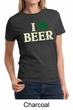 St Patricks Day Ladies Shirt I Love Beer Tee T-Shirt