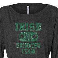 St Patricks Day Ladies Shirt Irish Drinking Team Off Shoulder Tee
