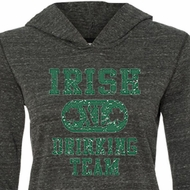St Patricks Day Ladies Shirt Irish Drinking Team Tri Blend Hoodie Tee