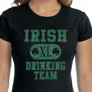 St Patricks Day Ladies Shirts Irish Drinking Team Crewneck Tee T-Shirt