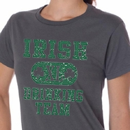 St Patricks Day Ladies Shirts Irish Drinking Team Organic Tee T-Shirt