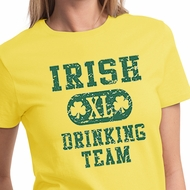 St Patricks Day Ladies Shirts Irish Drinking Team Tee T-Shirt
