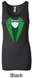St Patricks Day Ladies Tanktop Irish Tuxedo Longer Length Tank Top