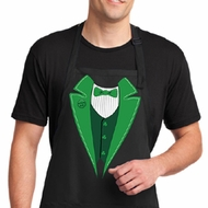 St Patricks Day Mens Apron Irish Tuxedo Full Length Apron with Pockets