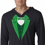 St Patricks Day Mens Shirt Irish Tuxedo Lightweight Hoodie Tee