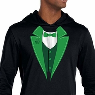 St Patricks Day Mens Shirt Irish Tuxedo Lightweight Hoodie Tee T-Shirt
