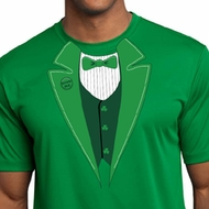 St Patricks Day Mens Shirt Irish Tuxedo Moisture Wicking Tee T-Shirt