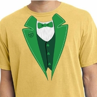 St Patricks Day Mens Shirt Irish Tuxedo Pigment Dyed Tee T-Shirt