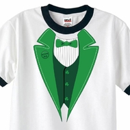 St Patricks Day Mens Shirt Irish Tuxedo Ringer Tee T-Shirt