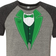 St Patricks Day Mens Shirt Irish Tuxedo Tri Blend Tee T-Shirt