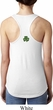St Patricks Day Shamrock Patch Back Print Ideal Tank Top
