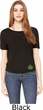 St Patricks Day Shamrock Patch Bottom Print Ladies Open Back Tee