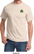 St Patricks Day Shamrock Patch Pocket Print T-shirt