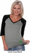 St Patricks Day Shamrock Sequins Bottom Print Ladies V-neck Raglan