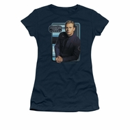 Star Trek - Enterprise Shirt Juniors Trip Tucker Navy Tee T-Shirt