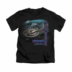 Star Trek - Enterprise Shirt Kids Enterprise NX 01 Black Youth Tee T-Shirt