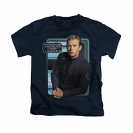 Star Trek - Enterprise Shirt Kids Trip Tucker Navy Youth Tee T-Shirt