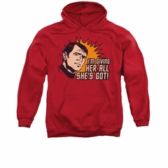 Star Trek Hoodie All She's Got Red Sweatshirt Hoody